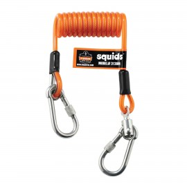 Ergodyne 19131 Squids 3130M Coiled Cable Lanyard - 5lb