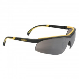 DEWALT DC- Silver Mirror Lens Safety Glasses Half Frame Style Black Color - 12 Pairs / Box