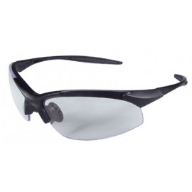Rad-Infinity Safety Glasses with Black Frame and Clear Lens