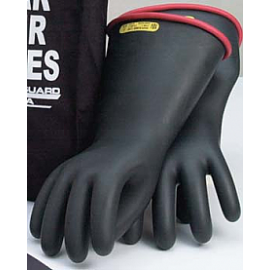 Class 1 Insulating Rubber Gloves with Red Lining