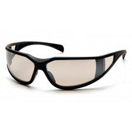 Pyramex  Exeter  Glossy Black Frame/Indoor/Outdoor Mirror AntiFog Lens  Safety Glasses  12/BX