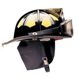Bullard Traditional Firedome Helmet with Goggles and Brass Eagle