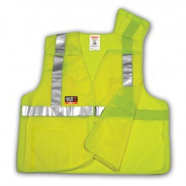 Tingley V81522.L-XL Class 2 FR 5 Point Breakaway Vest Fluorescent Yellow-Green