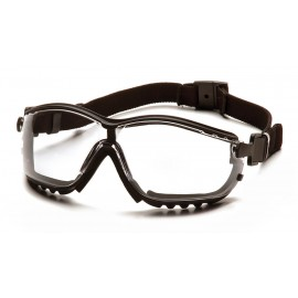 Pyramex  V2G  Black Frame/Clear H2MAX Anti Fog Lens Polycarbonate Safety Glasses  12 / BX