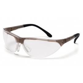 Pyramex Safety - Rendezvous - Crystal Gray Frame/Clear Anti-Fog Lens Polycarbonate Safety Glasses - 12 / BX