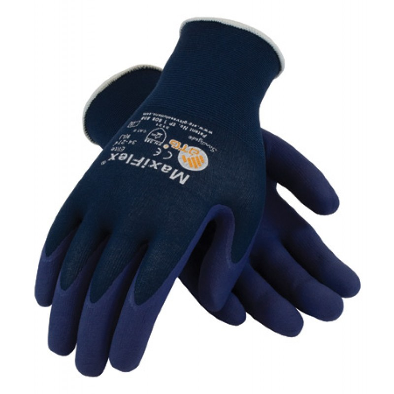 PIP 34-274/L ATG Ultra Light Weight Seamless Knit Nylon Glove with Nitrile Coated MicroFoam Grip on Palm & Fingers Large 12 DZ