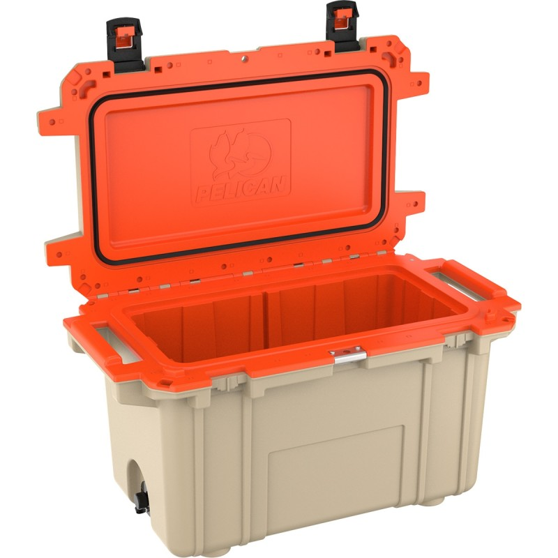 Pelican Elite Coolers 50QT Elite Cooler Tan/Orange | 50Q-2-TANORG