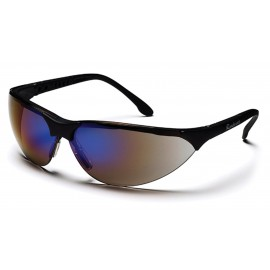 Pyramex Safety - Rendezvous - Black Frame/Blue Mirror Lens Polycarbonate Safety Glasses - 12 / BX