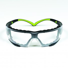 3M™ SecureFit™ SF401AF-FM Safety Glasses - Foam Gasket - Clear Anti-Fog Lens