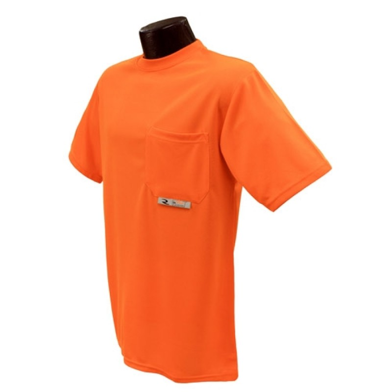 Radians ST11-N ST11-NPOS Non-Rated Short Sleeve Safety T-shirt with Max-Dri™ Orange