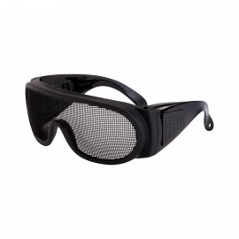 Radians Matte Black Wire Mesh Safety Glasses 12 PR/Box