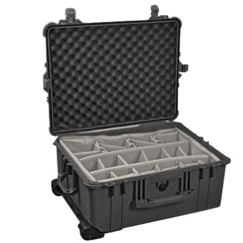 Pelican 1610 Case with Padded Dividers