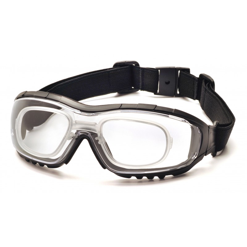 Pyramex Safety - V3G - Black Strap/Temples/Clear Anti-Fog Lens Polycarbonate Safety Glasses - 12 / BX