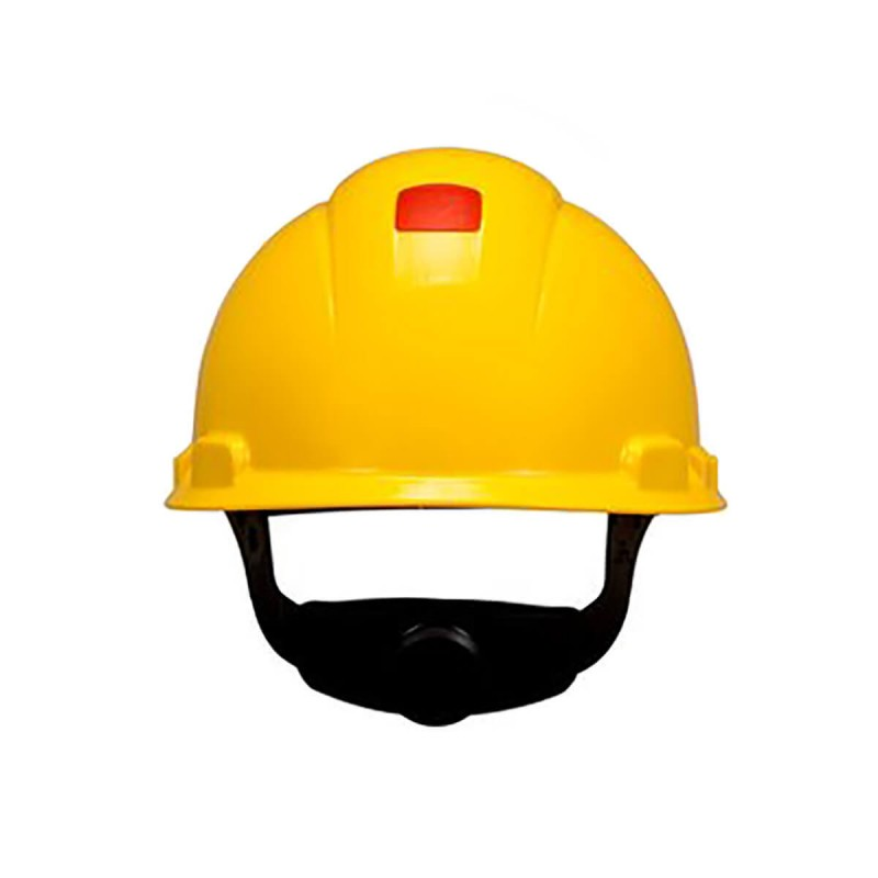 3M™ Hard Hat with Uvicator H-702V-UV, Vented, Yellow, 4-Point Ratchet Suspension, 20 EA/Case