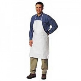 DuPont™ Tyvek Apron - Bound Seam White Color 100/Case