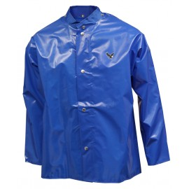 Iron Eagle Jacket Blue Storm Fly Front Hood Snaps
