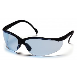 Pyramex Safety - Venture II - Black Frame/Infinity Blue Lens Polycarbonate Safety Glasses - 12 / BX