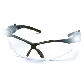 Pyramex Safety - PMXTREME Readers - Black Frame/Clear Anti-Fog +2.0 Lens with LED Temples Polycarbonate Safety Glasses - 6 / BX