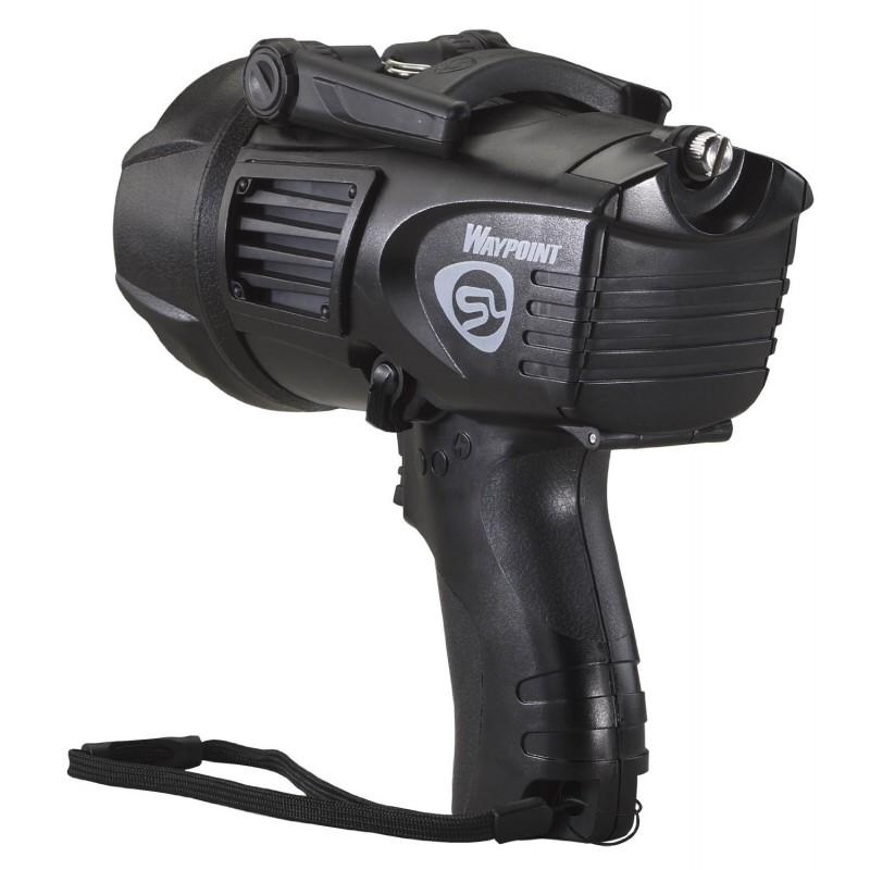 Black Waypoint Spotlight with 120V AC Charger - Lithium Ion