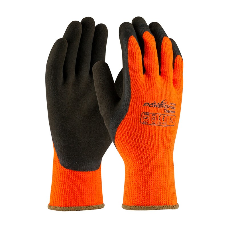 PIP PowerGrab Thermo 41-1400 Winter Gloves, Orange (1 PR)