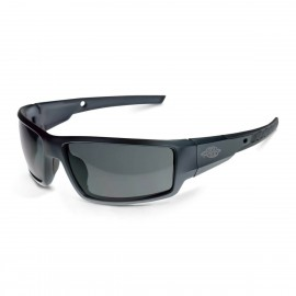 Radians Crossfire Cumulus Smoke, Aluminum Gray Frame Safety Glasses Aluminum Gray 12 PR/Box