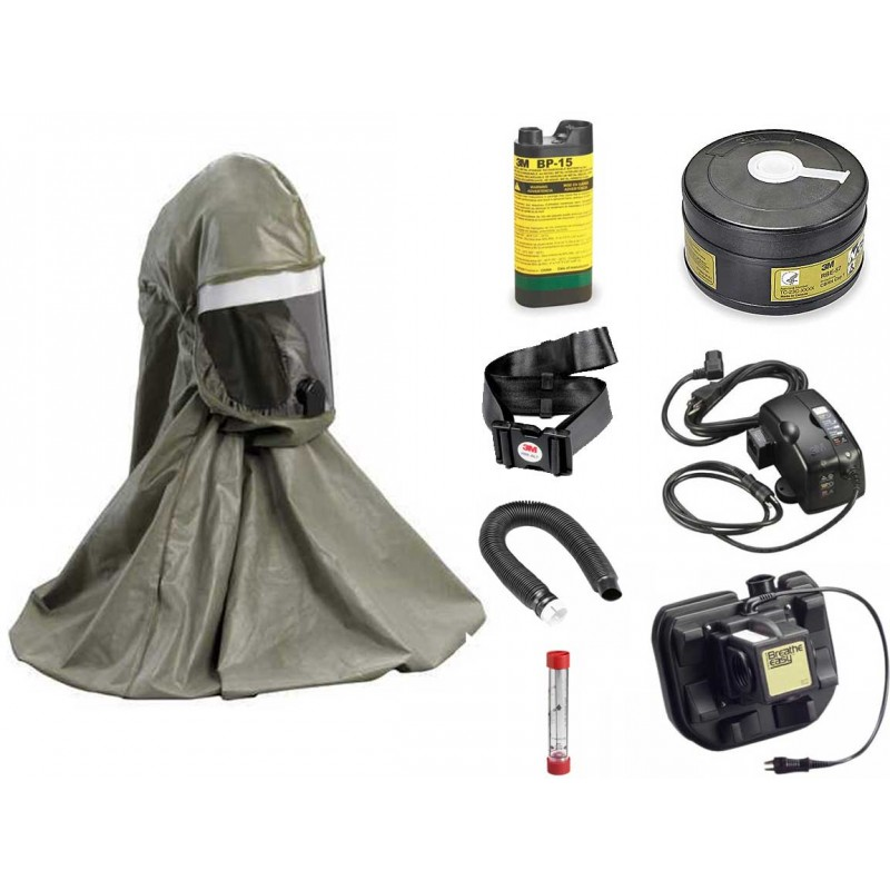 3M Breathe Easy First Responder Hood PAPR System - with NiMH Battery & Battery Charger