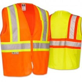 Radwear Class 2 Economy Safety Vest with Two-Tone Trim