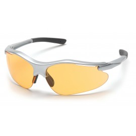 Pyramex Fortress Silver Frame/Mango Lens Safety Glasses 1 Pair