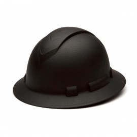 Pyramex Ridgeline HP54117 Full Brim Hard Hat 4-Point Ratchet, Matte Black (1 DZ)