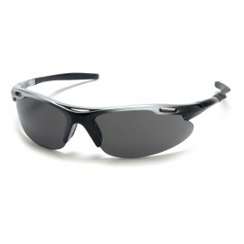 Pyramex  Avante  Silver Black Frame/Gray Lens  Safety Glasses  12/BX