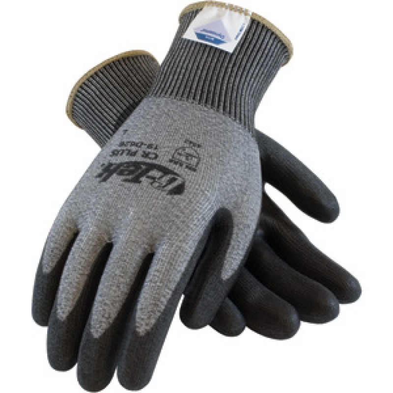 G-Tek CR Plus Seamless Knit Spun Dyneema / Lycra Glove with Polyurethane Coated Smooth Grip on Palm & Fingers