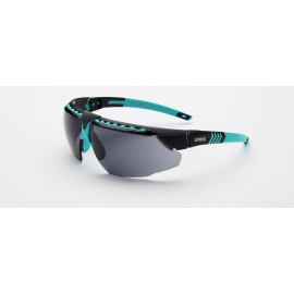 Honeywell S2881HS Uvex Avatar Teal/Black Frame Gray Lens Hydroshield Anti-Fog Coating 10/Box