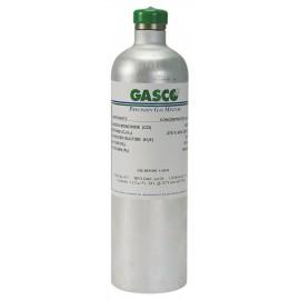 34 Liter 100 PPM Carbon Monoxide, 25% LEL Pentane, 25 PPM Hydrogen Sulfide, 19.0% Oxygen Calibration Gas, Nitrogen