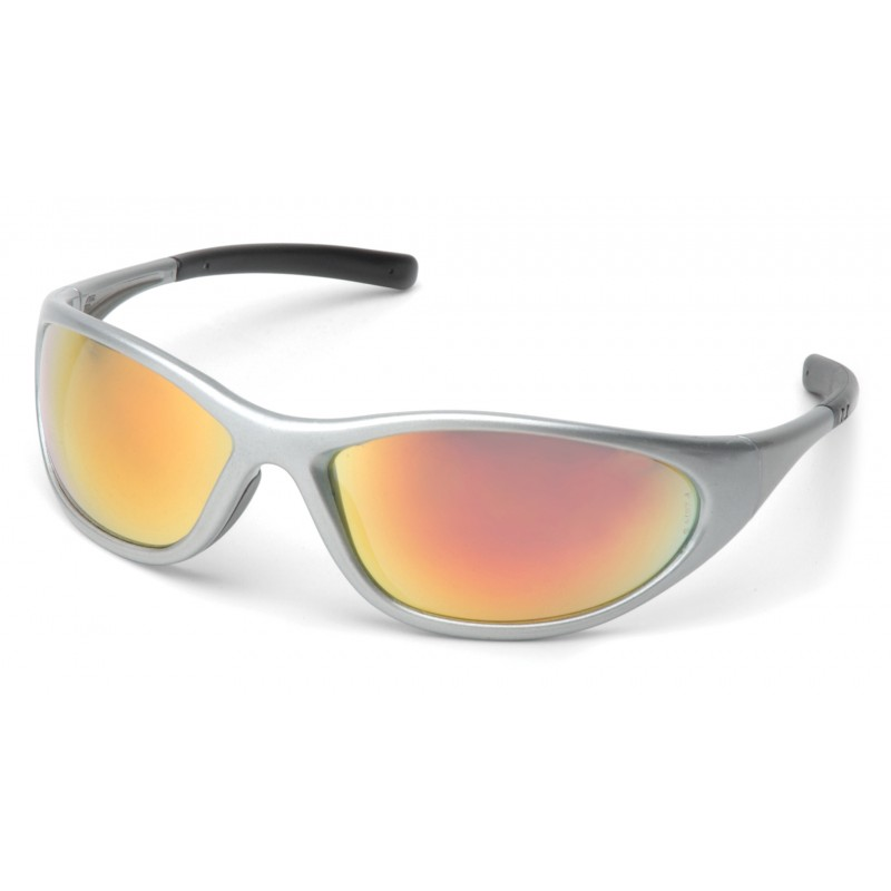 Pyramex Safety - Zone II - Silver Frame/Ice Orange Mirror Lens Polycarbonate Safety Glasses - 12 / BX