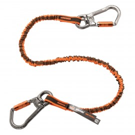 Ergodyne 19829 Squids 3119F(x) Double-Locking Dual Carabiner Tool Lanyard with Swivel - 25lbs