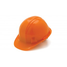 Pyramex Hard Hats Orange-Standard Shell 6 Pt Ratchet Suspension (1 Case of 16)
