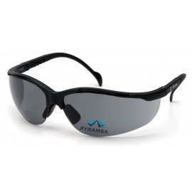 Pyramex Safety - V2 Readers - Black Frame/Gray + 3.0 Lens Polycarbonate Safety Glasses - 6 / BX