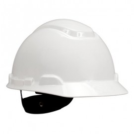 3M™ Hard Hat H-701R, White 4-Point Ratchet Suspension,