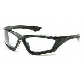 Pyramex Accurist  Black Padded Frame/Clear AntiFog Lens  Safety Glasses  12/BX