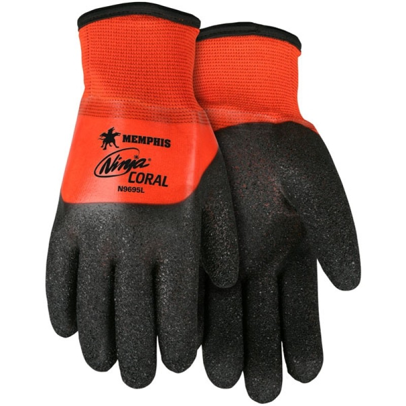MCR N9695 Ninja® Coral 3/4 Dip Work Glove Insulated 1/DZ