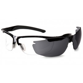 Pyramex  FlexZone  Blake Frame/ Clear Lens with gray replacement Lens  Safety Glasses  12/BX