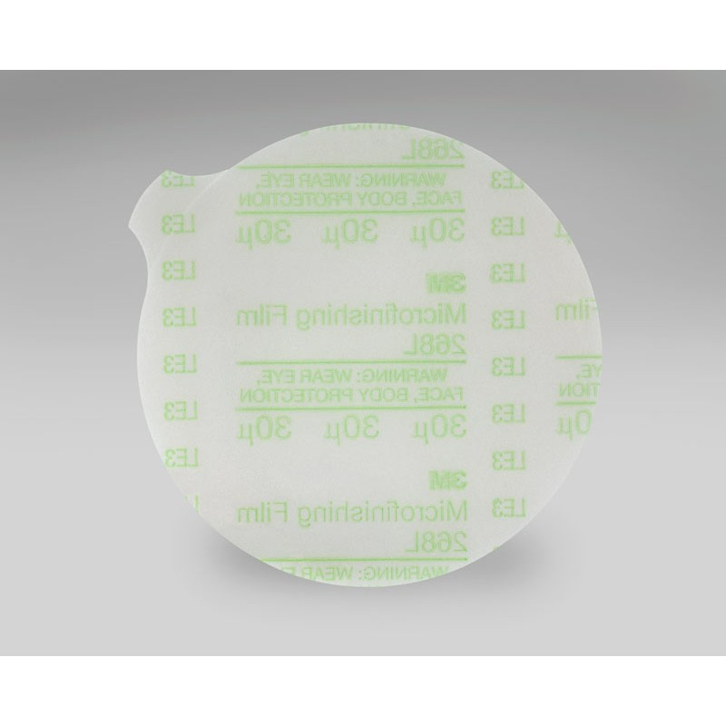 3M™ Hookit™ Microfinishing Film Disc 268L, Type D, 3 in x NH 30 Micron, 1000 per case