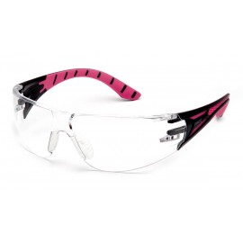 Pyramex  Endeavor Plus  BlackPink Frame/Clear Lens  Safety Glasses  12/BX