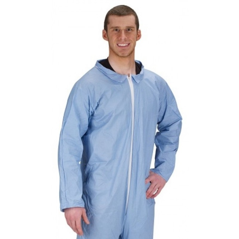 Lakeland Industries 07412B Pyrolon Plus 2 Coverall Blue (25 Per Case)
