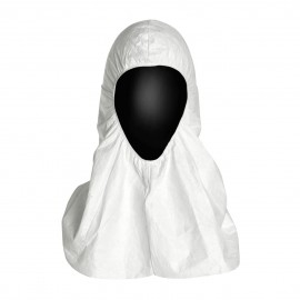DuPont™ Tyvek Large Hood with Elastic - Serged Seams 100/Case