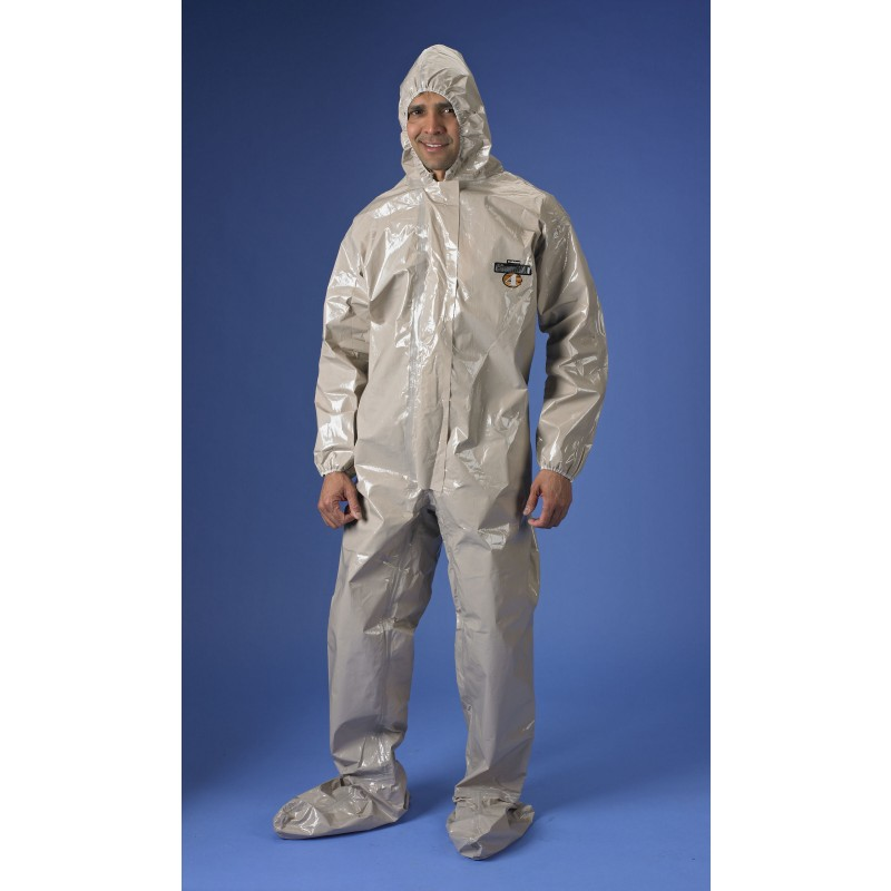 ChemMax 4 Coverall - Hood & Boots - Tan (Case of 6)