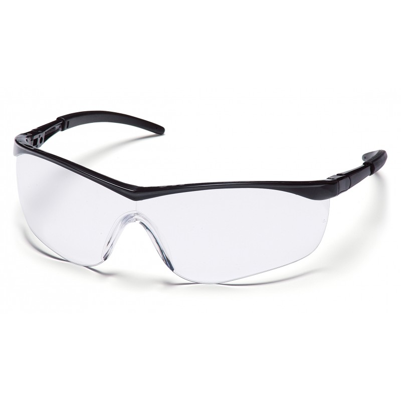 Pyramex Safety - Mayan - Black Frame/Clear Lens Polycarbonate Safety Glasses - 12 / BX