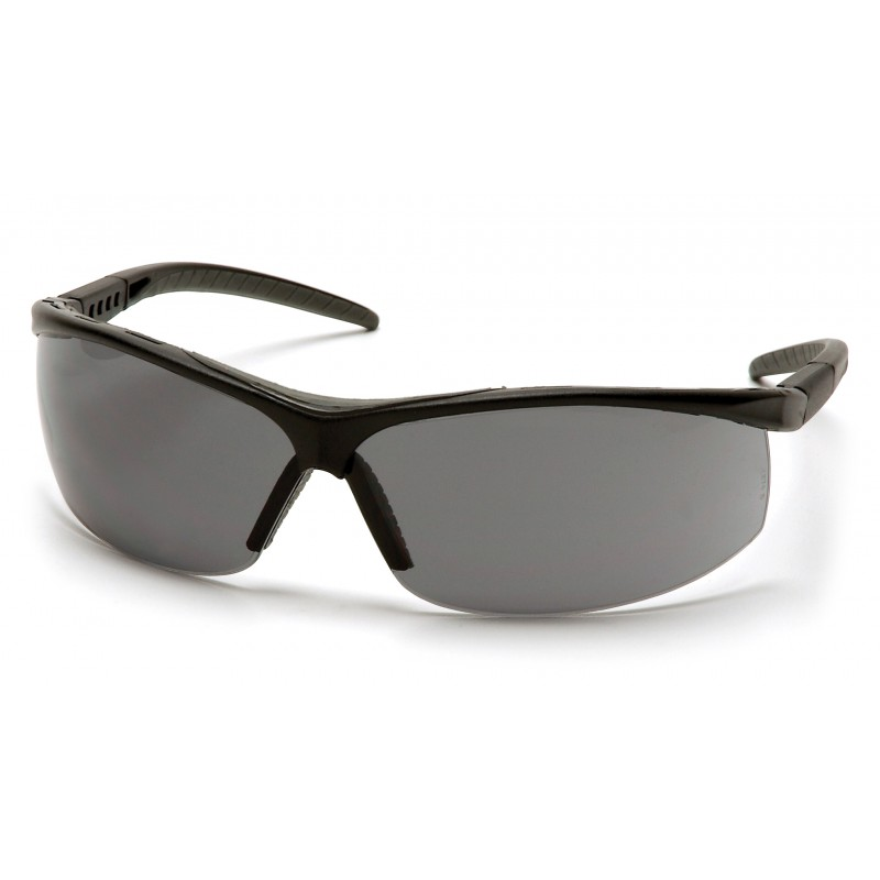 Pyramex Safety - Pacifica - Black Frame/Gray Lens Polycarbonate Safety Glasses - 12 / BX
