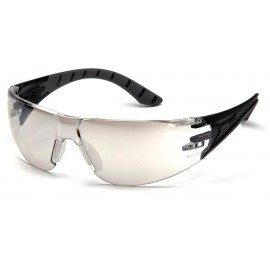 Pyramex  Endeavor Plus  BlackGray Frame/IndoorOutdoor Mirror Lens  Safety Glasses  12/BX