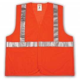 Tingley V70629.S-M Class 2 Vest Fluorescent Yellow-Green Polyester Mesh Hook & Loop